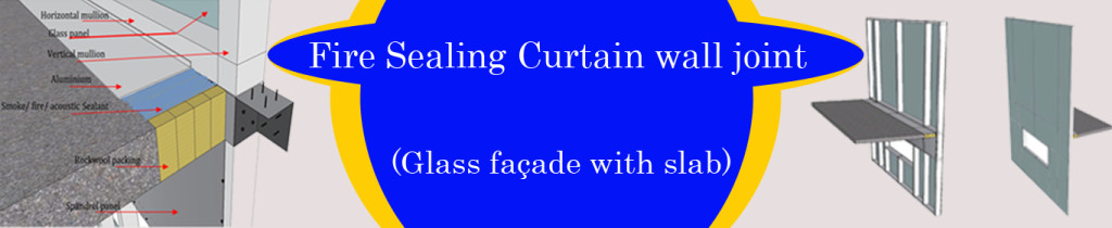 Fire Sealing Curtain wall joint